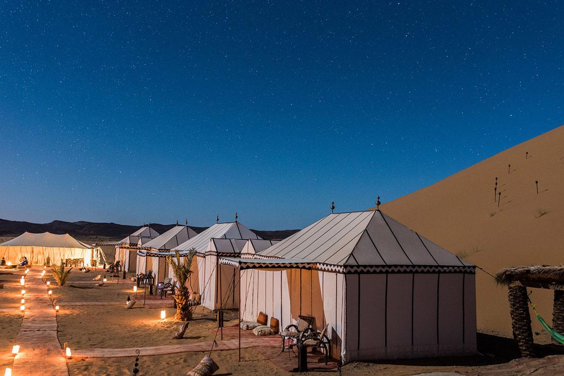 Moroccon Desert Campsite at Night